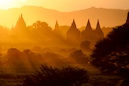 """Burma Bagan Temple Sunset"" by Mik Peach"